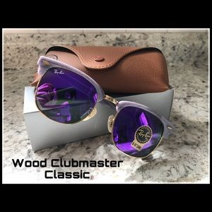 Ray-Ban Wood Clubmaster New Purple G-15 lens
